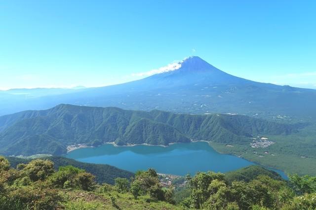 富士山と西湖のコラボ