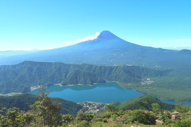 富士山の展望に惚れた登山者
