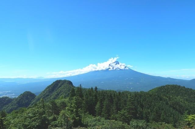節刀ヶ岳からの富士山の景色