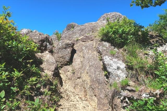 節刀ヶ岳から十二ヶ岳への登山道