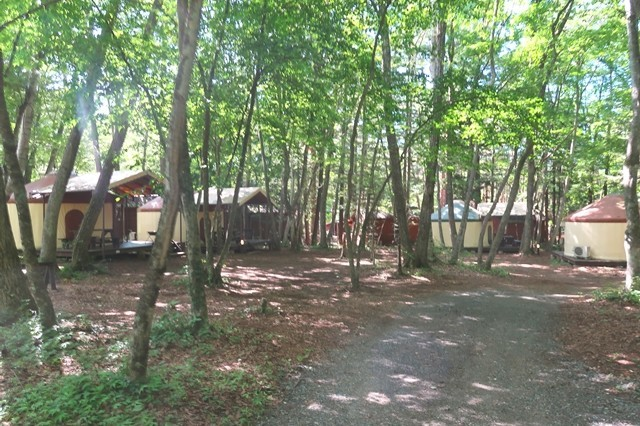 PIKA富士吉田のパオ宿泊設備