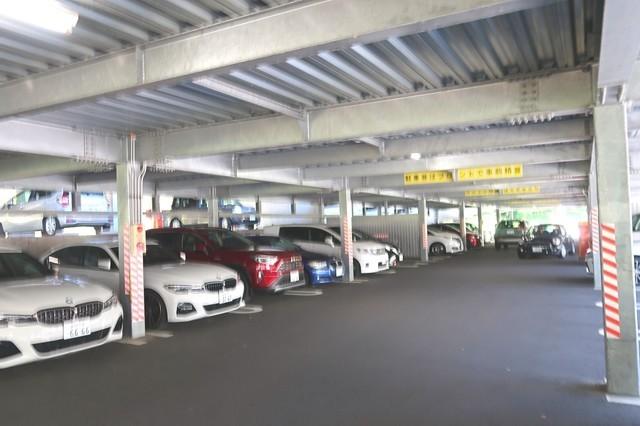 ふじやま温泉の駐車場