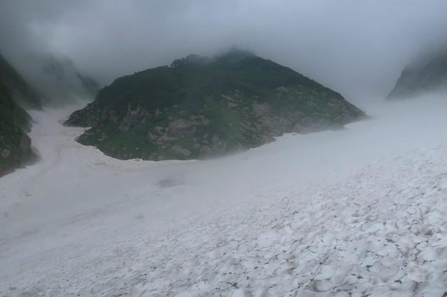 石転び沢の雪渓の雪質