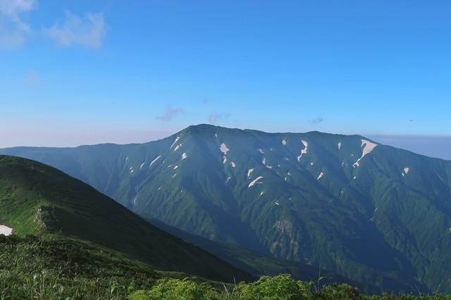 大日岳は雲1つない快晴