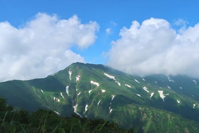 天狗の庭からの大日岳の景色