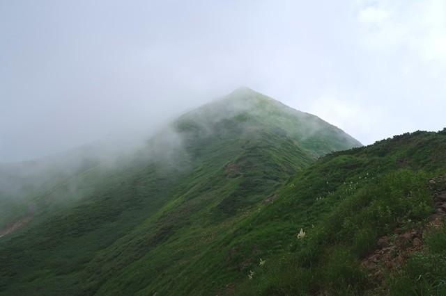 大日岳の山頂直下