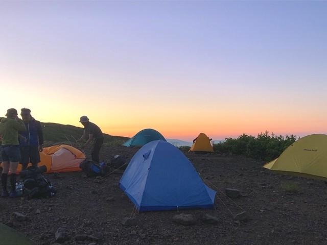 御西小屋で宿泊したテント泊者