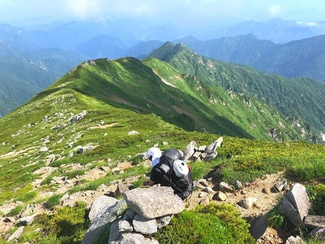 ダイグラ尾根分岐から宝珠山目指して登山スタート