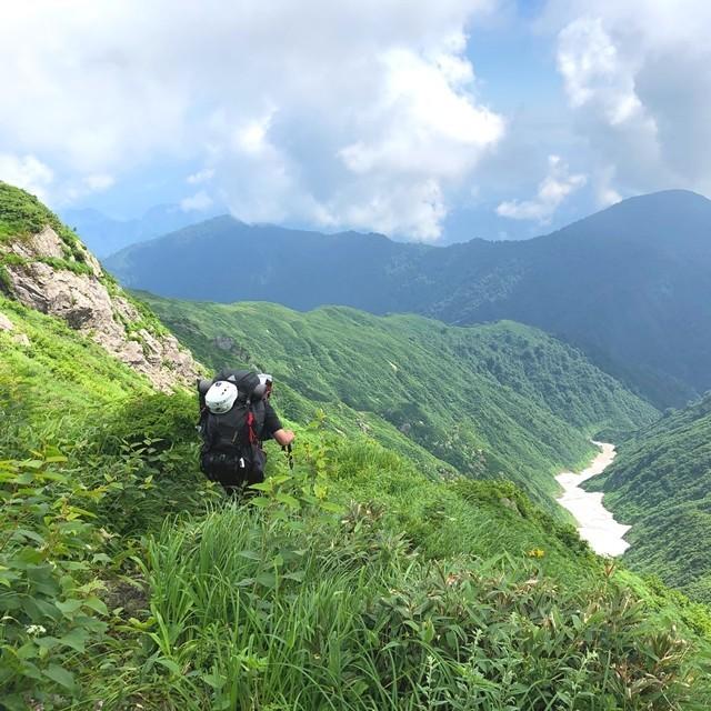 宝珠山鞍部のルート上の藪な所
