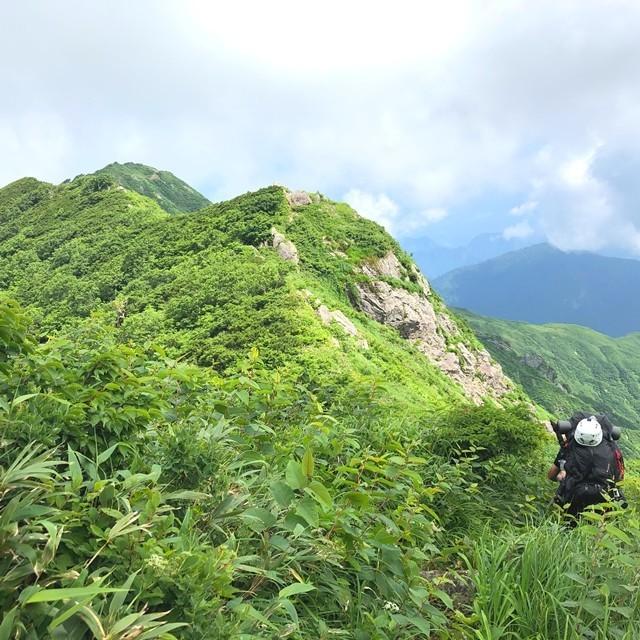 宝珠山まで急坂下りコースの様子