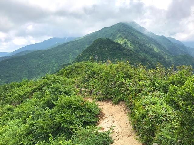 ダイグラ尾根を振り返っての宝珠山写真