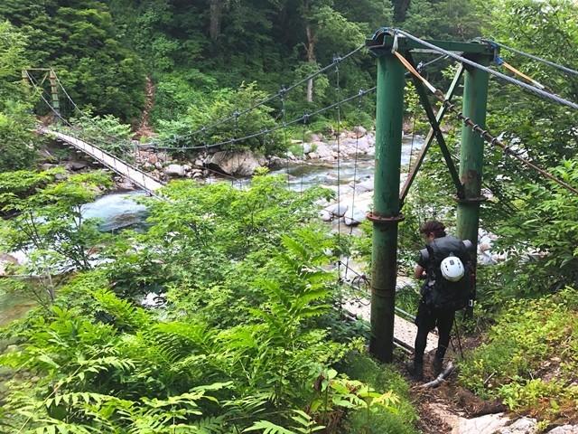 桧山沢の吊橋