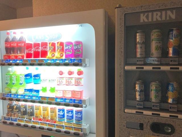 小国温泉松風館の自動販売機と値段