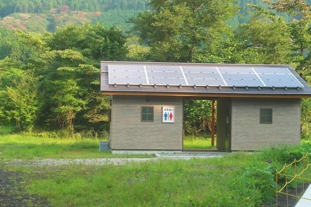 根原の吊橋・端足峠・竜ヶ岳・雨ヶ岳方面分岐無料の公衆トイレ
