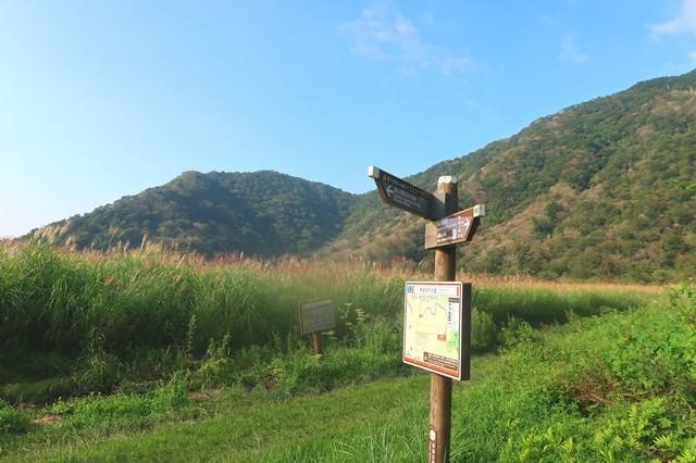 毛無山への登山道景色が開ける場所