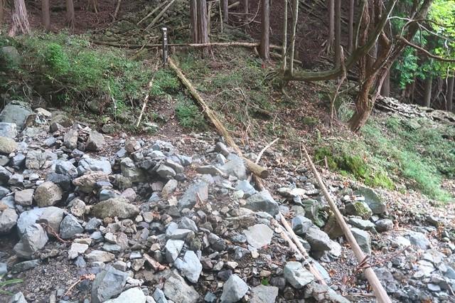 東海自然歩道のルート荒れている場所で危ない