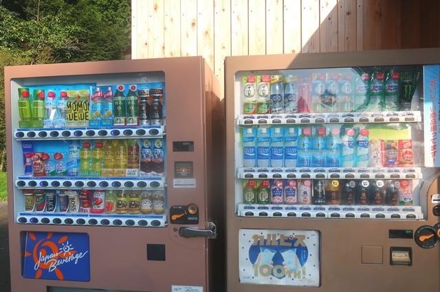 ふもとっぱらキャンプ場の売店自動販売機