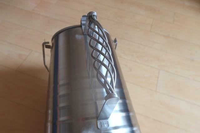テンマクデザインステンレスケトル2Lお洒落でおすすめの持ち手部分