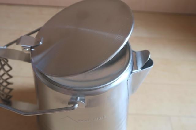 テンマクデザインステンレスケトル2.0Lにはガス缶は入らない