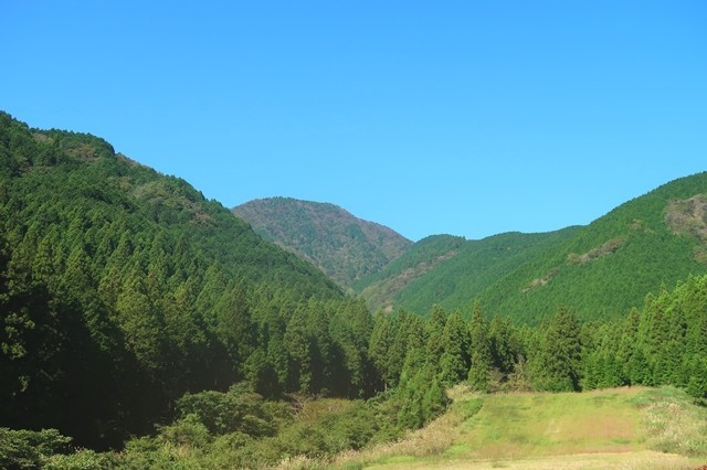 天子ヶ岳を遠望景色