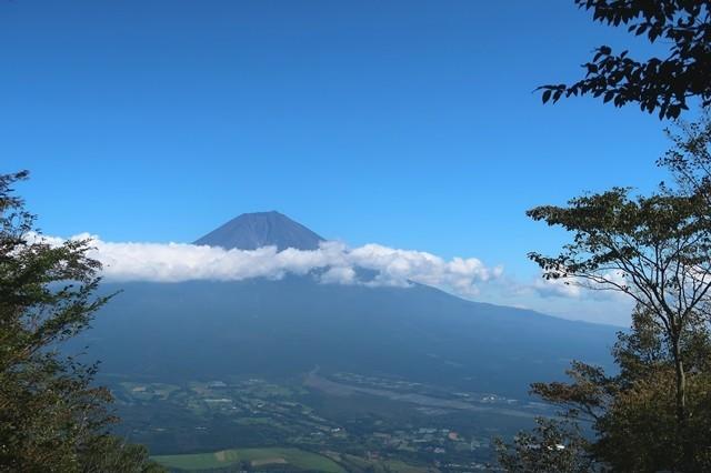 長者ヶ岳からの富士山の景色