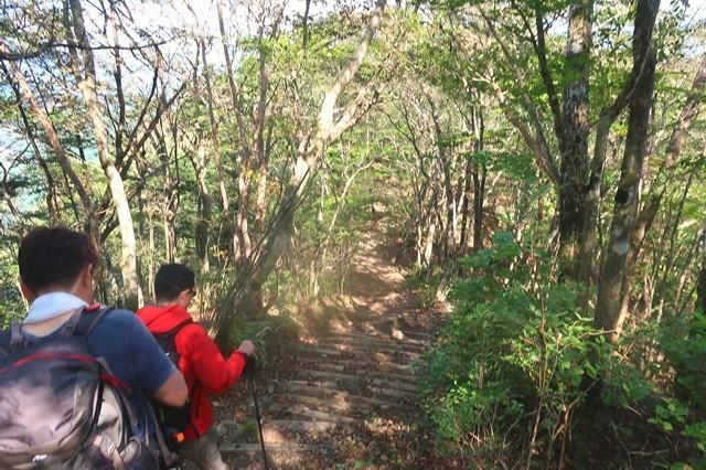 長者ヶ岳から田貫湖キャンプ場への登山ルート
