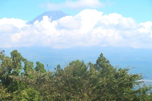 長者ヶ岳登山中の富士山の景色
