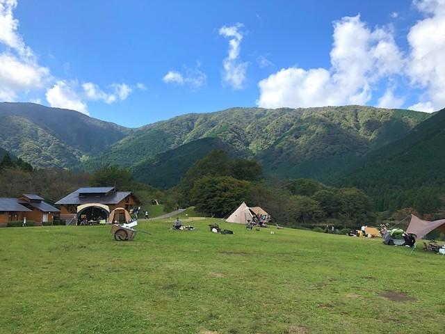 田貫湖キャンプ場のテントサイト