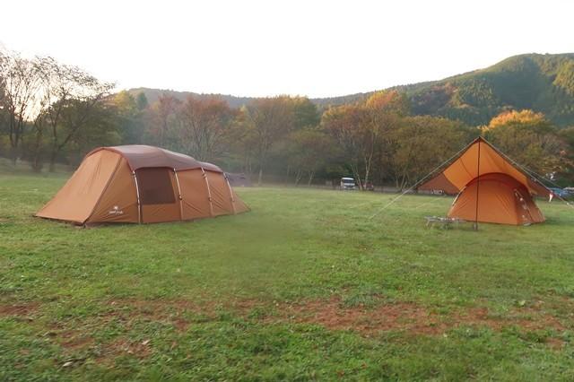 田貫湖キャンプ場のBサイトと高価なテント