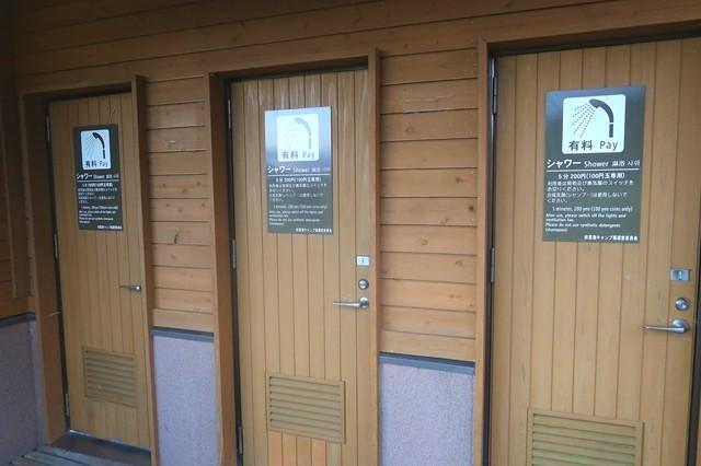 田貫湖キャンプ場の有料シャワー