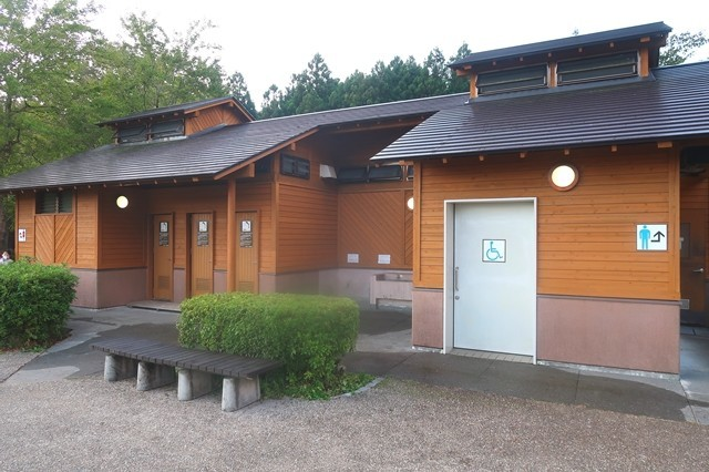 田貫湖キャンプ場のトイレ