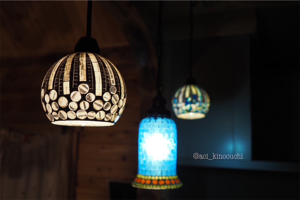ログハウス 照明