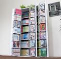 [書棚]書棚ストッカー ホワイト 日本製 大容量 木製
