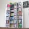 書棚ストッカー ホワイト 日本製 大容量 木製
