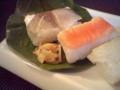 柿の葉寿司。ま、たまには冬に食べてみるのもよろしかろう。