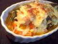 ラタトゥイユのチーズ焼き。素晴らしきは洋風野菜煮込みの凡用性。