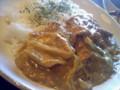 昼ごはん。キャベツと牛肉のココナッツミルクカレー。