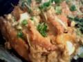 昨日の揚げ残しでカツ丼など。ちと雑に作りすぎた……。