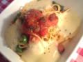夏野菜ベーコンモッツァレラのパスタ。