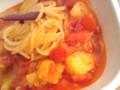 トマトの酸辣パスタ。(試作版)