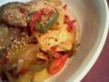 マリネした鶏胸肉をバルサミコ蜂蜜香草で仕立ててみた。