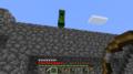 Sv6-47.png:Minecraftサバイバル生活6-34(門のうえで待っているクリーパーさ