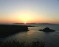 日没 利尻島から礼文島方向