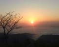 日の出 岡山県川上町弥高山