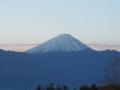 朝の富士山fromほったらかし温泉