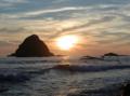 '05 積丹半島西岸の日没