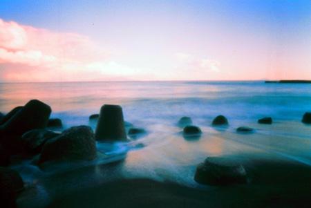 波打つ夕景色