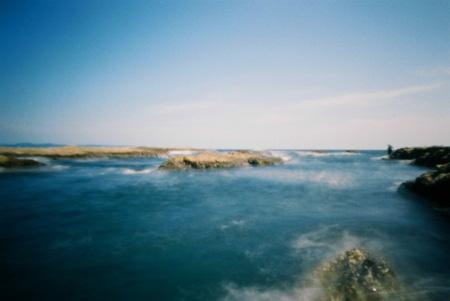 第一岩屋の白波