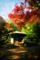 紅葉に染まる初音茶屋