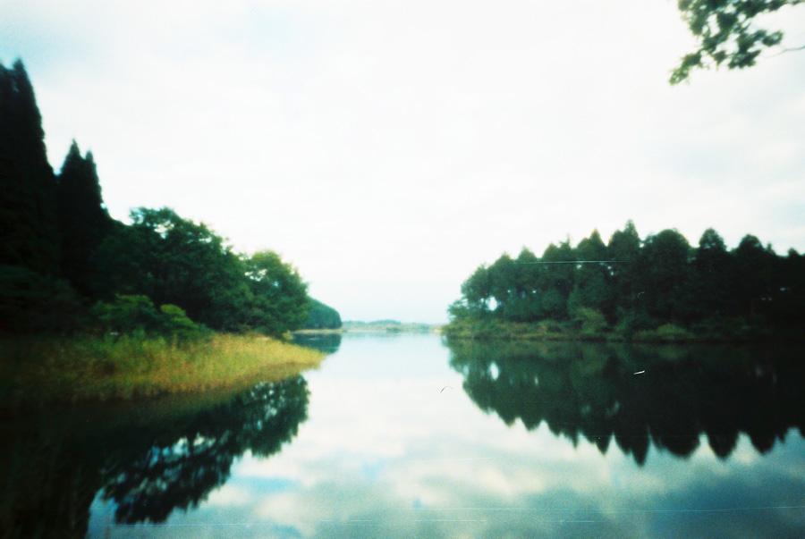 田貫湖ヨリ富士山ヲ望ム